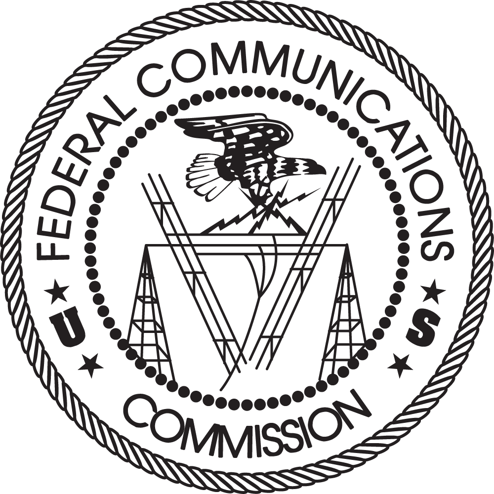 Logos Of The Fcc Federal Communications Commission Electrical And Electronic Symbols Pdf Black Seal On White Transparent Background