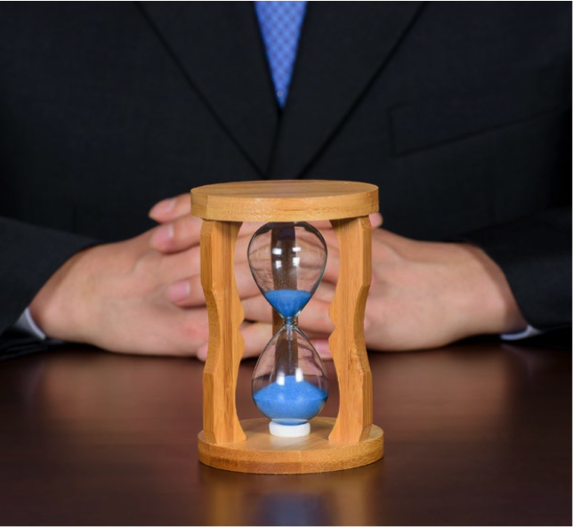 Hour glass describing fixed work schedules