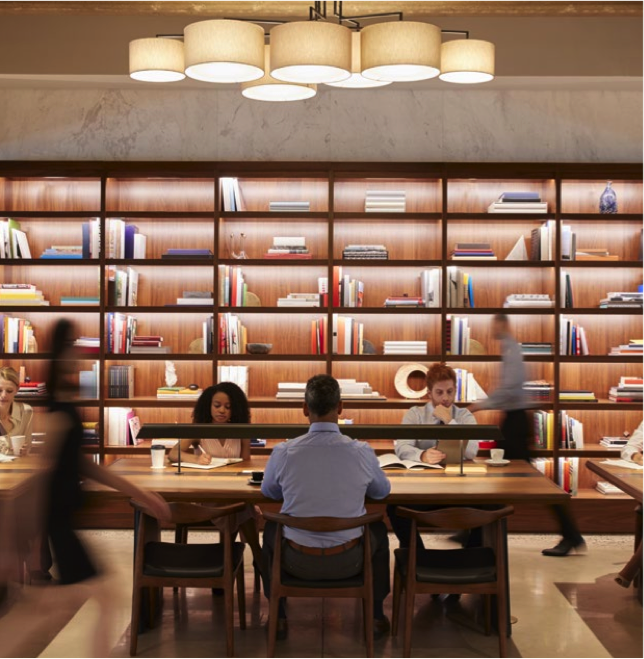 People sitting in a library