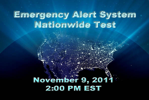 Nationwide test of the emergency alert system