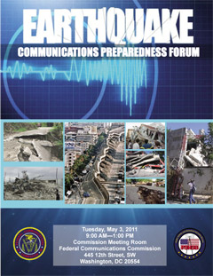 Earthquake Preparedness Forum Poster