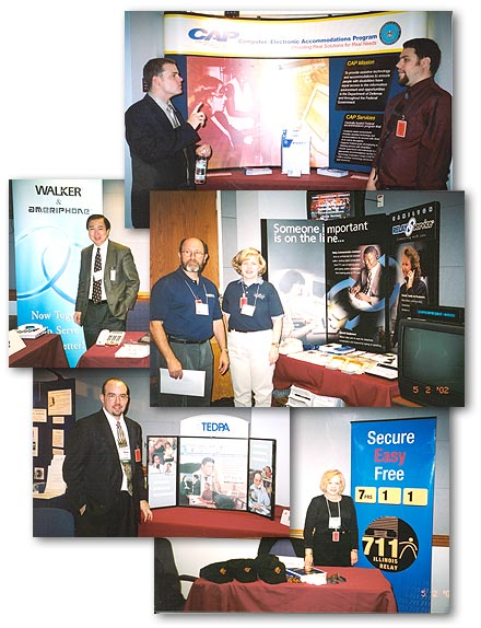 A collage of 5 photos taken at the TRS Expo