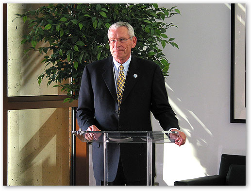 AT&T Chairman and CEO Mr. Ed Whitacre at IP-Video Technology Demonstration in Irving, Texas.