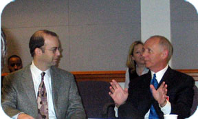 FCC Commissioner Jonathan S. Adelstein and Jim Dailey, Mayor, Little Rock, Arkansas (IAC Chair)