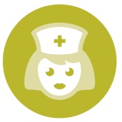 Elderly Nurse Icon